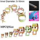 New 10Pcs Spring Clips Fuel Oil Line Water Hose Clip Pipe Tube Clamp Fasteners