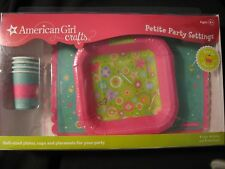 American Girl doll crafts Petite Party Settings 4 each cups/plates/ placemats