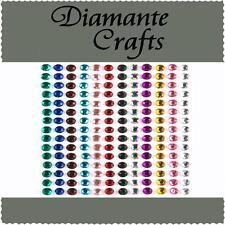 180 x 4mm colori misti Diamante Autoadesivo STRASS CORPO Vajazzle GEMS