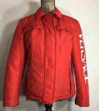 Versace Jeans Couture Red Puffer Down Jacket Coat Women's Small Made In Italy