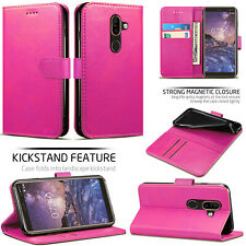 For Nokia 7 Plus Leather Magnetic Flip Wallet Case Cover with Card Slot Cash