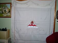 NEW IN PLASTIC-A CUP OF LACE-THOMAS POINT LIGHTHOUSE- EMBROIDERED-SHOWER CURTAIN