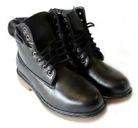 NEW * POLAR FOX * MENS LEATHER ANKLE BOOTS MILITARY COMBAT STYLE WORKING SHOES