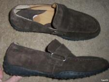 BORN brown leather mocs flats loafers slip on SHOES 42 men's 8.5 women's 10 NEW