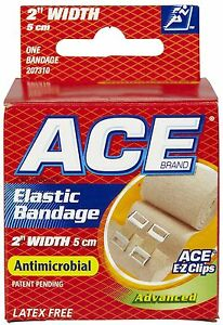 """ACE 2"""" Elastic Bandage With Clips"""