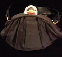 Coblentz Clutch Vintage Taffeta Satin Lucite Evening Bag Handbag Purse WOW J10A