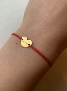Bracelet String Engraved Love Valentines Adjustable AU525 Sterling Silver