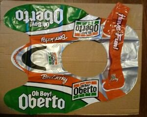"""Rare Oh Boy! Oberto Inflatable Hydroplane Hat Vivid Colors Bright """"Brand New"""""""