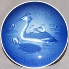 Bing & Grondahl 1978 Mother's Day Plate Grebe with Chicks B&G Mothers Day