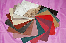 1-Lot of Leather Swatches Pieces Assorted Styles   S1555