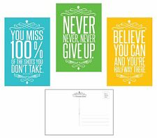 Famous Quotes Motivational Inspirational (30 Pack) POSTCARDS (4 x 6) Made in USA