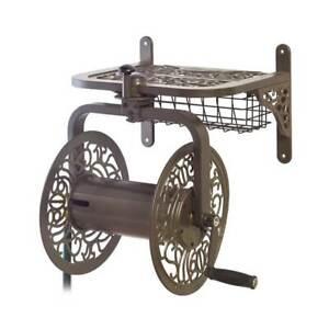 Liberty Garden Decorative Cast Aluminum Navigator Rotating Garden Hose Reel