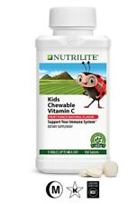 Amway NUTRILITE Kids Chewable Vitamin C Fruit Punch Natural Flavor (180Tablets)