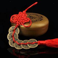 Charme Feng Shui Fortune Porte-bonheur Gland Rouge Chaîne Pièces Attachées IH