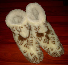 Ukrainian Slippers Felt merino Boots Sheep Wool Womens/Mens Size 42/11/8.5 Brown
