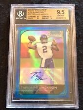 BGS 9.5 2006 Bowman Chrome BLUE REFRACTOR AUTO Tarvaris Jackson RC VIKINGS /75