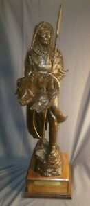 """Fred Fellows Bronze """"Spirit of the Plains"""" Limited Edition Number 22 of 35"""