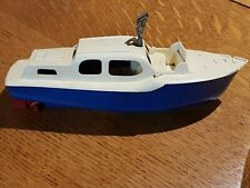 ➡➡TRI-ANG WIND-UP Full Working Boat (CABIN CRUISER) #62 G.W.O. WITH Triang KEY