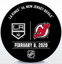 New Jersey Devils Game Used NHL Warm Up Puck 2/08/2020 Vs. Los Angeles Kings!