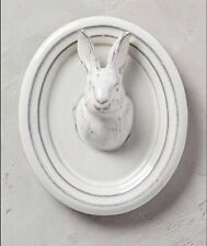 New Anthropologie Wall Pleasant Pasture Wall Bust Rabbit Bunny Ivory