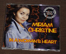 Eurovision Song Contest 1996 Malta Miriam Christine In a Womans Heart CD single