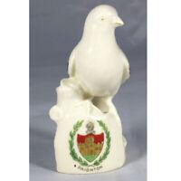 Vintage Crested Ware Bird On A Rock Figurine - Paignton, Devon