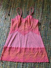 Wacoal Pink W/ Orange Accents Embrace Lace Chemise Slip Large New