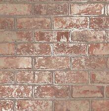 FineDecor Wallpaper - Loft Brick Wall - Metallic Gold Effect - Natural - FD41954