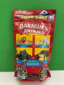 BARNUM'S ANIMAL CRACKERS Limited Edition Discontinued 8 oz Bars Snak Sak Package