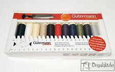 Gutermann - Sew All Thread Kit with Seam Ripper & Sewing Gauge - 11 Spools 100m