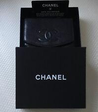 Chanel Black Caviar CC Snap Flap Wallet Purse