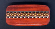 Western Stash Box Handmade Padauk Wood Inlay Stash Box Made in USA