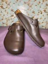 Size 41 | Birkenstock Boston Brown Leather Clogs Mules  Men 8 Women 10