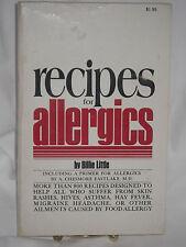 RECIPES FOR ALLERGICS BY BILLIE LITTLE PBK 1971GRO GROSSET & DUNLAP 800+ RECIPES