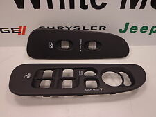 02-05 Dodge Ram 1500 New Power Window Switch Bezel Right & Left Slate Mopar Oem