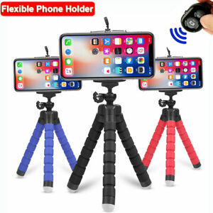 Flexible Tripods Octopus Mount Phone Holder Remote Control Selfie Stand Monopod