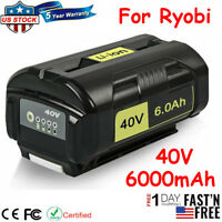 For Ryobi OP40261 OP40601 40v 6ah Hp Lithium Ion High Capacity Batterry Tools