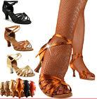 Women Ballroom Latin Tango Dance Shoes Soft Sole 5 CM High Heel Salsa 5 Colors