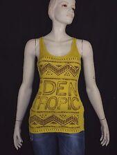 CACHE CACHE Taille 0 34 très joli débardeur long jaune haut top tee shirt