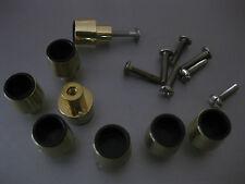 8 x Möbelknopf Griff Schrankknopf Schubladengriff 1,8x2,3cm,Gold,Schrauben25mm
