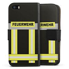 Apple iPhone 5 Tasche Hülle Flip Case - Feuerwehr
