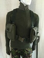 vintage swedish webbing & bag army surplus mod miliary fishing hunting shooting