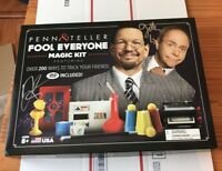 PENN & TELLER SIGNED FOOL EVERYONE COMPLETE MAGIC KIT MEGARARE! 200 TRICKS & DVD