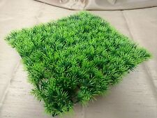 """GREEN GRASS AQUARIUM FISH TANK BOWL DECORATION ORNAMENT ARTIFICIAL PLANT 9"""" X 9"""""""