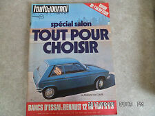 AUTO JOURNAL N°17 01/10/1973 RENAULT 12 TR FIAT X 1/9 COUPE PEUGEOT 104  K56