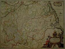 Historische Landkarte Westfalen Friesische Inseln 1658 J.Janß.  Norddeutschland