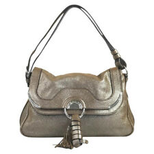 CELINE DAYDREAM BRONZE SHIMMER LEATHER SHOULDER BAG - MINT