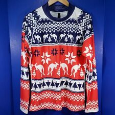 Scody Au Kangaroo Unisex Ugly Xmas Sweater Rashie Xl Athletic Full Sleeve Upf50