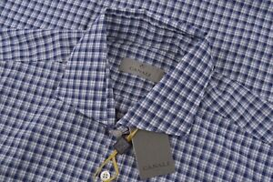 NWT Current Canali 1934 Size XL Extra Large Dress Shirt Blue White Italy Modern
