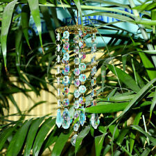 Colorful Crystal Wind Chimes Glass Garden Outdoor Patio Hanging Decor Gift tools